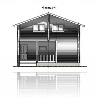 ФАСАД 1 (Дом из бруса 016/026-08)