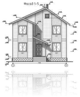 ФАСАД 1 (Каркасный дом 11/044-2009)