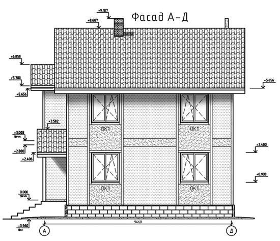 ФАСАД 3 (Каркасный дом 11/044-2009)
