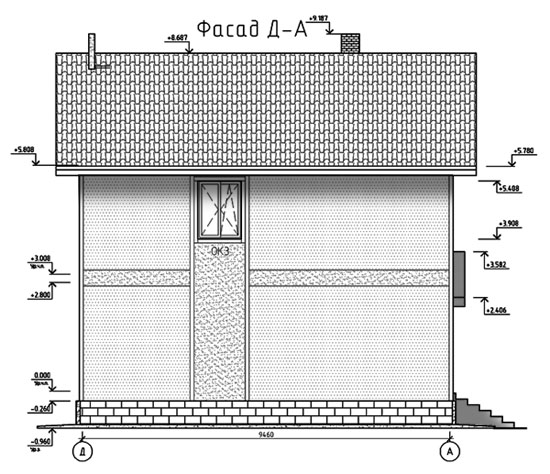 ФАСАД 4 (Каркасный дом 11/044-2009)