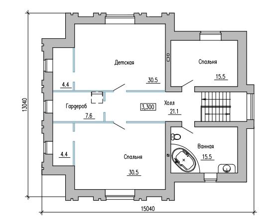 ПЛАН 2-ГО ЭТАЖА (дом в г.Кинель, на ул. Декоративная)