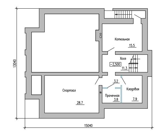 ПЛАН ПОДВАЛА (дом в г.Кинель, на ул. Декоративная)