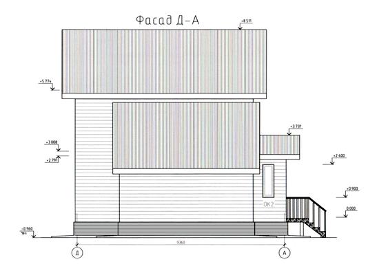 ФАСАД 3 (Каркасный дом 10/043-2009)