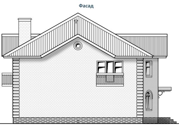 ФАСАД 3 (Дом из газобетона 05/012-2008)