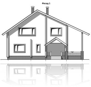 ФАСАД 2 (Дом из бруса Н05/37-09)