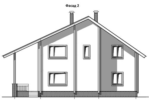 ФАСАД 1 (Дом из бруса Н05/37-09)