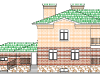 ФАСАД 3 (Кирпичный дом 017/027-08)